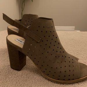 Steve Madden Suede Block Heel Sandal